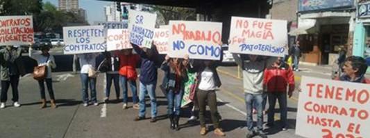 Corte y protesta tras desalojo de comercios en Puente Maipú